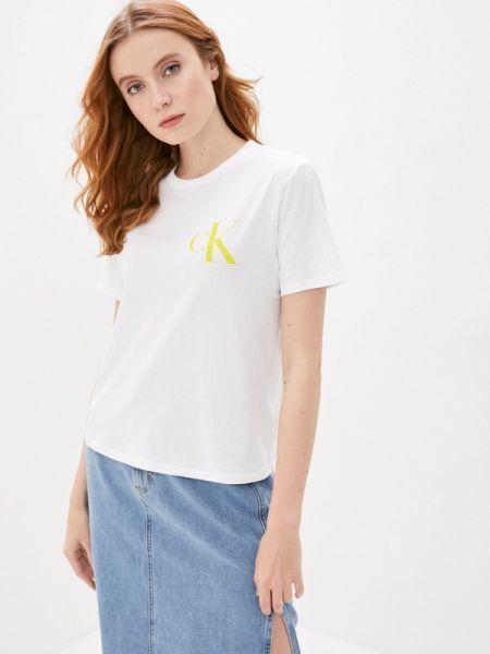 Поло белое футбольный Calvin Klein Jeans