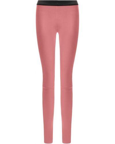Леггинсы розовый кожаные Drome