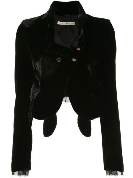 Черный классический пиджак с подстежкой Aleksandr Manamïs
