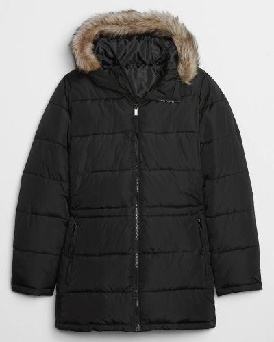 Куртка из искусственного меха - черная Gap