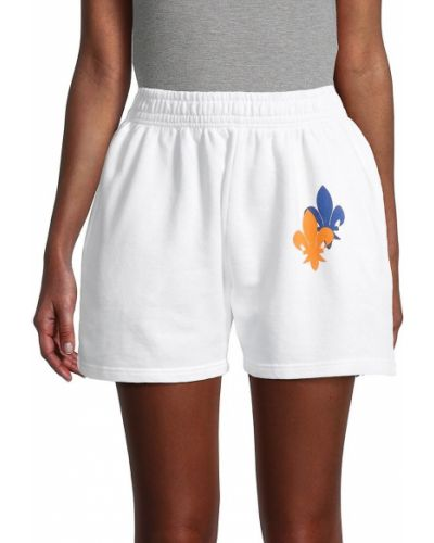 Повседневные белые шорты для плаванья с карманами Eleven Paris