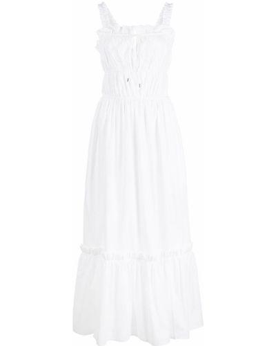 Прямое белое платье макси без рукавов Rosetta Getty