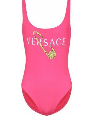 Пляжный купальник золотой Versace