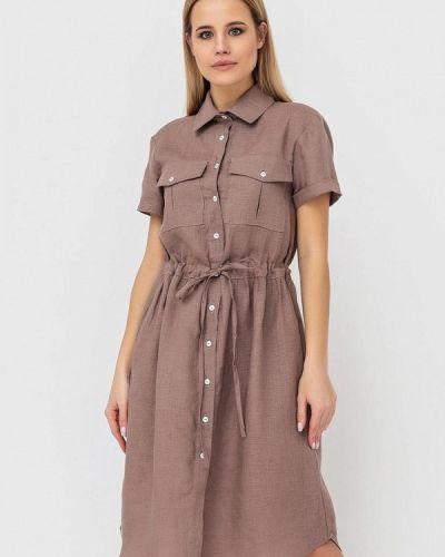 Коричневое платье Morandi