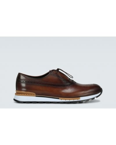 Кожаные кроссовки - коричневые Berluti