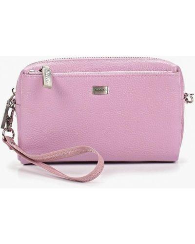 Кожаный сумка через плечо фиолетовый Fabretti