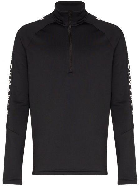 Ciepła czarna bluza z długimi rękawami Peak Performance