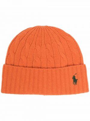 Czapka beanie - pomarańczowa Polo Ralph Lauren