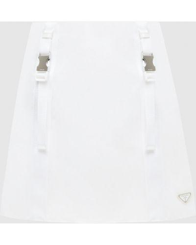 Белая юбка мини Prada