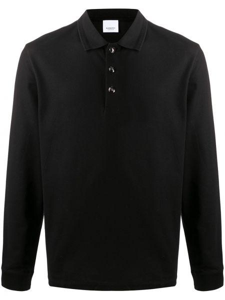 Klasyczny bawełna prosto czarny koszula klasyczna Burberry