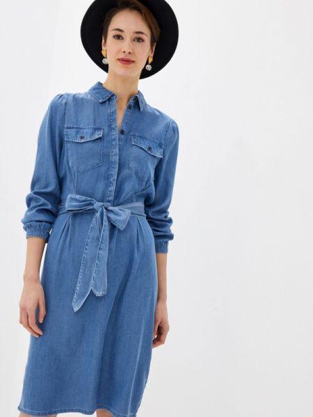 Джинсовое платье синее весеннее Vila
