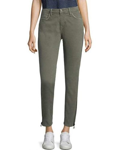 Зеленые зауженные джинсы-скинни с карманами Sandrine Rose
