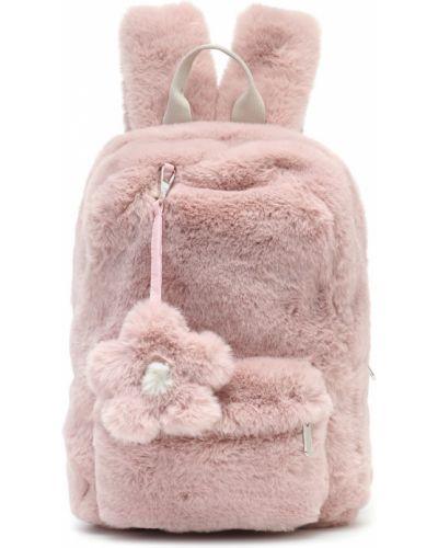 Szkoła różowy plecak sztuczne futro Il Gufo