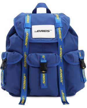 Niebieski plecak klamry z nylonu The Bags