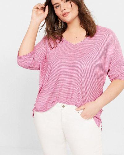Пуловер розовый Violeta By Mango