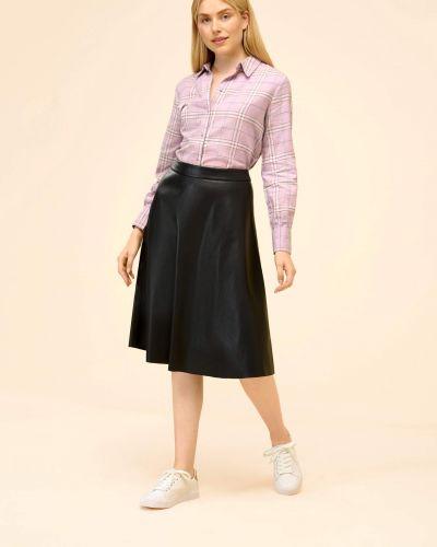 Koszula w kratę - fioletowa Orsay