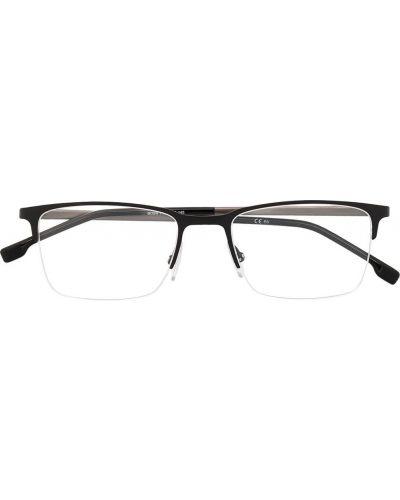 Czarny oprawka do okularów plac wytłoczony Boss Hugo Boss