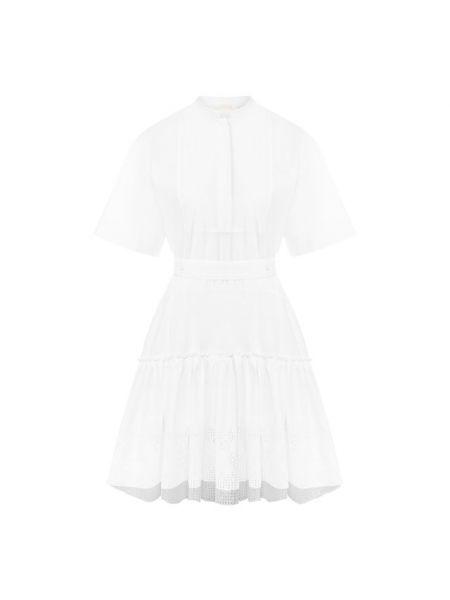 Кружевное платье мини - белое Chloé