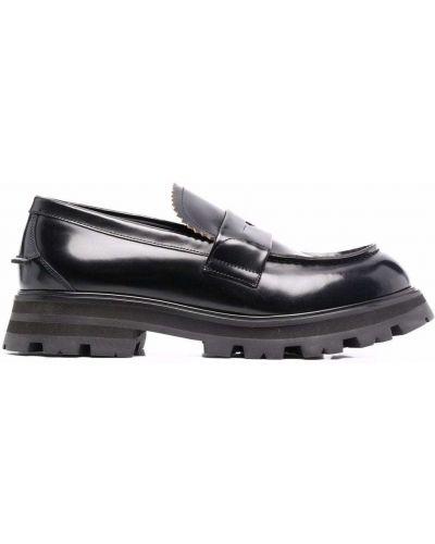 Черные массивные туфли Alexander Mcqueen