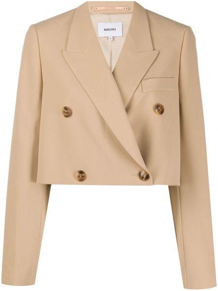 Пиджак двубортный с карманами Nanushka