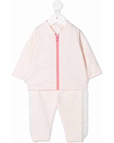Różowy garnitur bawełniany z długimi rękawami Billieblush