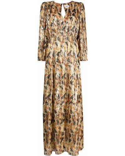 Шелковое платье макси - желтое Ba&sh