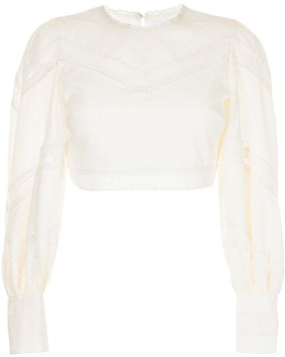 Блузка с вышивкой - белая Alice Mccall