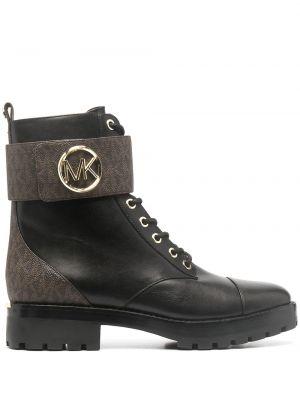 Кожаные ботинки - черные Michael Michael Kors