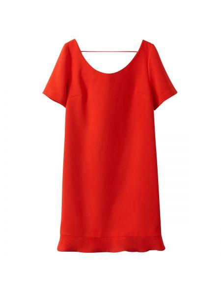 Красное тонкое платье мини с декольте на бретелях See U Soon
