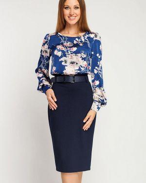 Повседневное платье осеннее синее Giulia Rossi