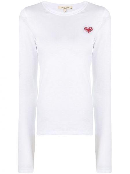 Bawełna z rękawami koszula z haftem okrągły Rag & Bone