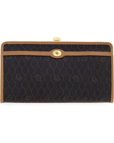 Кожаный сумка вечерняя с узором Christian Dior Vintage