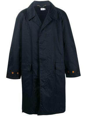 Синее шерстяное пальто классическое с воротником Cp Company Pre-owned