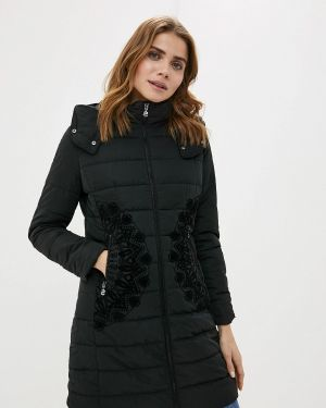 Зимняя куртка утепленная черная Desigual