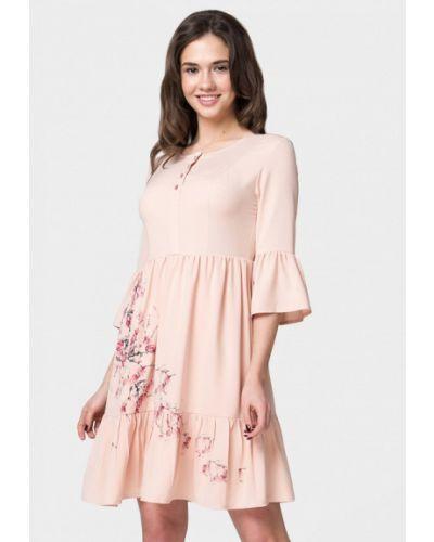 Платье мини розовое Ricamare
