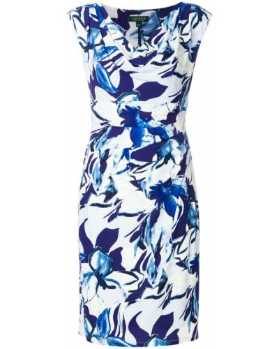 Синее платье с абстрактным принтом Ralph Lauren