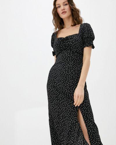 Прямое черное платье А-силуэта Chi Chi London