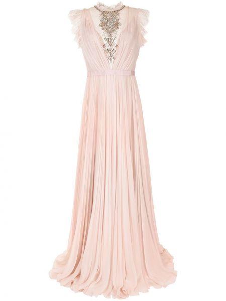 Różowa sukienka z jedwabiu Jenny Packham