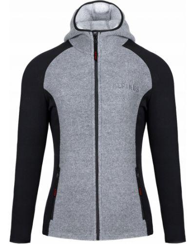 Czarna bluza z kapturem polarowa Alpinus