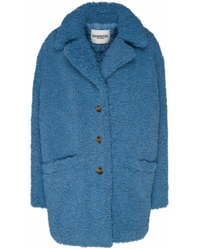 Укороченное пальто оверсайз плюшевое Essentiel Antwerp