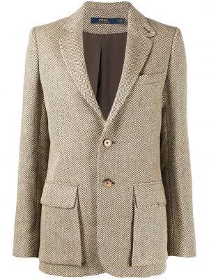 Пиджак длинный - коричневый Polo Ralph Lauren
