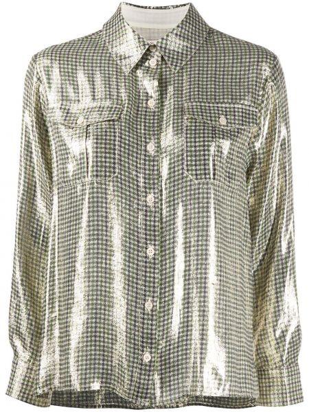 Шелковая классическая рубашка с воротником с манжетами на пуговицах Alexa Chung