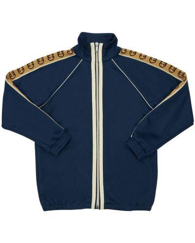 Bawełna z rękawami bluza z kołnierzem na gumce Gucci
