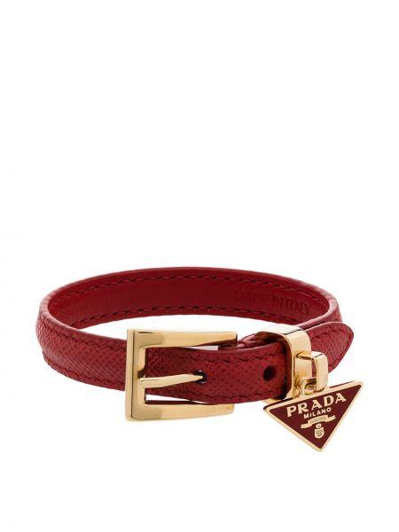 Złota bransoletka ze złota klamry Prada