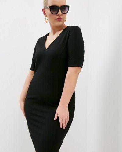 Черное платье-футляр Persona By Marina Rinaldi