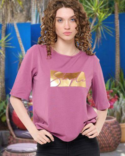 Повседневная футболка с надписью Mix-mode