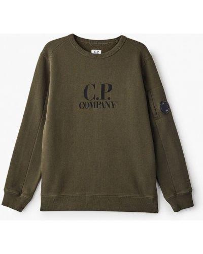 Зеленый свитшот C.p. Company