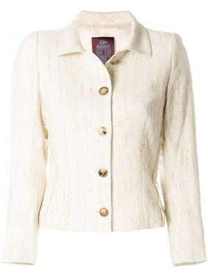 Шелковый однобортный белый классический пиджак John Galliano Pre-owned