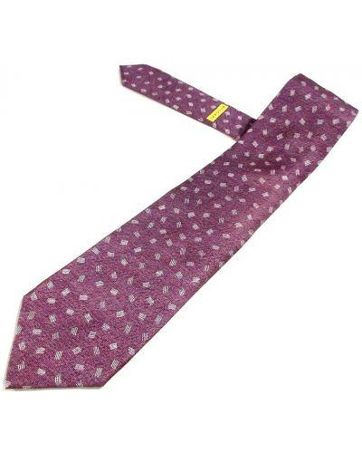 Krawat z jedwabiu - fioletowy Bvlgari Vintage