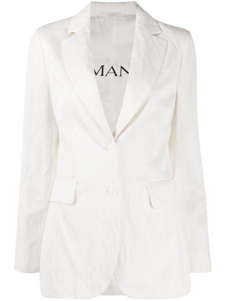 Однобортный белый пиджак с карманами Ermanno Ermanno
